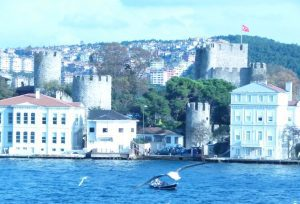 PHOTO BY PHYLLIS M. SKOY The Bosphorus is a natural strait that forms the continental boundary between Europe and Asia, and separates Asian Turkey from European Turkey.