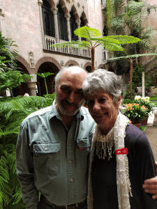 The author with her husband, Arthur, at the Isabella Stewart Gardner Museum in Boston, while on a book tour
