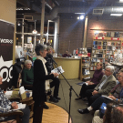 At bosque launch, I read from 'Neighbors'